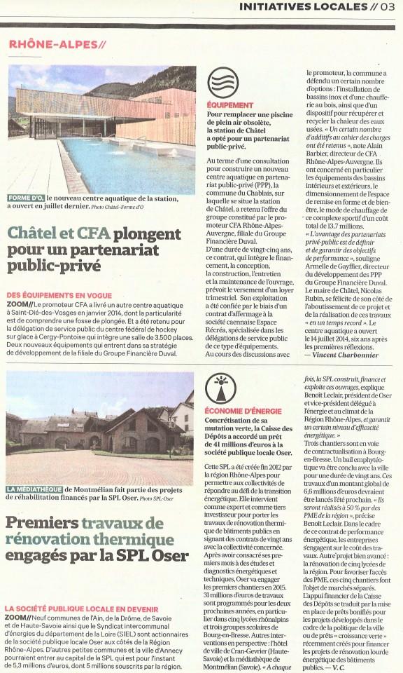Article Les Echos Ent & Coll 141105
