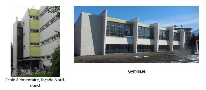 Les Romains façade et gymnase