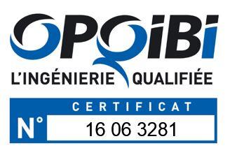 Logo OPQIBI avec numéro certificat V2